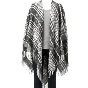 LC by Lauren Conrad Space Dyed Plaid Poncho
